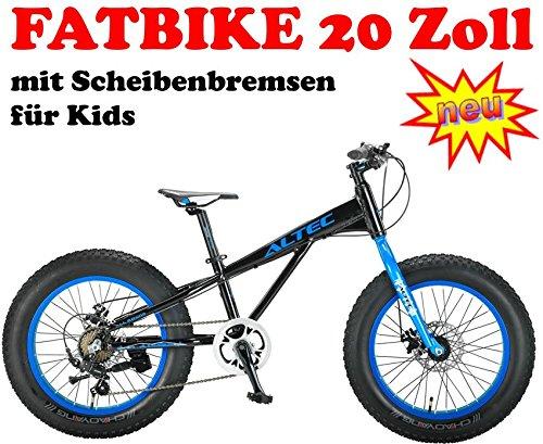 Fatbike 20 Zoll 21 Gang schwarz-blau