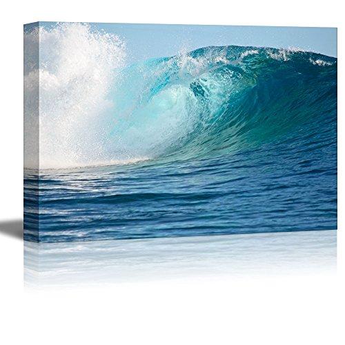 wall26-Kunstdruck auf Leinwand Art Wand-Schiff in einer Driften Flasche am Meer Retro Style | Moderne Wand Decor/Home Dekoration gedehnt Gallery Leinwand Wrap Giclée. Fertig zum Aufhängen -