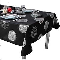 ExclusivoCIR Manteles Bright Black estampados antimanchas Colores Primaverales Decoracion Hogar (200 x 150 cm)