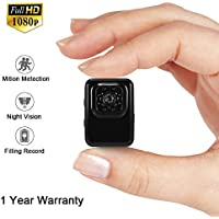1080P Mini Security Cam Überwachungskamera LXMIMI Portable Kleine HD Nanny Kamera mit Nachtsicht und Bewegungserkennung für Home / Office Indoor