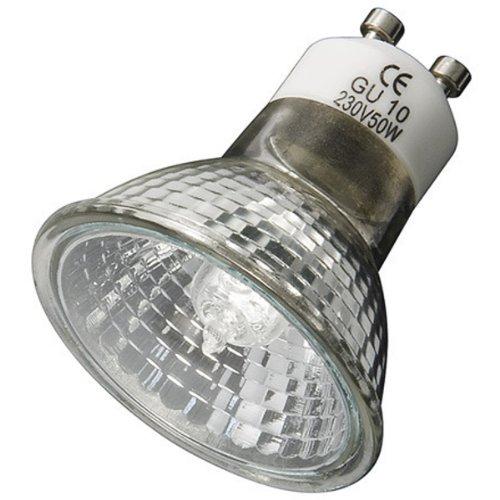 Halogen Reflektorlampe mit Schutzglas, Sockel GU10, 50W, 2700 K, 230V