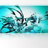 LanaKK - Graf Türkis - Fototapete Poster-Tapete - edler Kunstdruck auf Vliestapete mit Stuck Optik in 420x240 cm