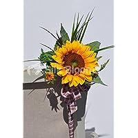 Sunshine giallo girasole artificiale wedding Pew fine