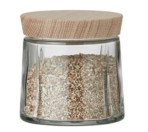Rosendahl - Grand Cru - Aufbewahrungsglas - Vorratsglas mit Deckel aus Eiche, 0,5 l