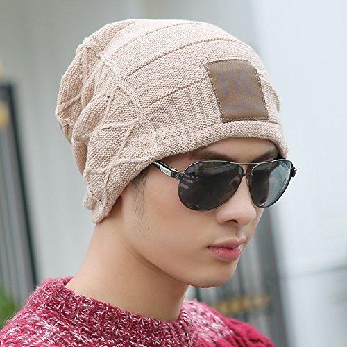 FQG*Hommes WINTER HAT hat tricot automne hiver chaud tricot élégant marée corée oreille épaisse , trousse kaki tête Le kaki