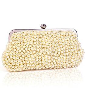 Damara Medium Perle Strassstein Damen Clutch Handtasche