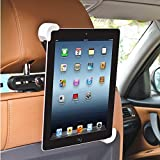 BESTEK Car Back Seat Headrest Mount Holder with 360 Degree Adjustable Rotating for iPad/iPad Air/iPad Mini and Other 7 to 11 Tablets