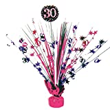 Feste Feiern Geburtstagsdeko Zum 30 Geburtstag I 1 Teil Tischdekoration Kaskade Pink Schwarz Violett Party Deko Set Happy Birthday