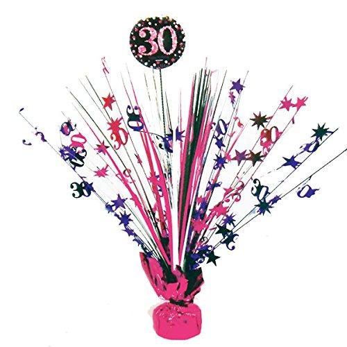 Feste Feiern Geburtstagsdeko 30. Geburtstag I 1 Teil Tischaufsteller Tischkaskade Pink Schwarz Silber Party Deko Set Happy Birthday (Pink, Dekorationen Und Schwarz Silber Party)