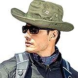 MerryBIY Sport e Outdoor Boonie Sun-shading Unisex Jungle Camo Cappello Da Pescatore Militare Da Pesca Caccia Campeggio da Viaggio Cappello Mimetico Giungla da Esterna Larga Brim Bucket Hat, Army Green