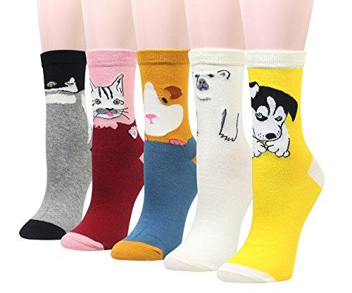 Cansok Damen Socken One size Gr. One size, Guinea Pig Penguin Polar Bear - Womens Polar Bear