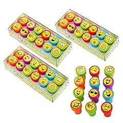 Idea Regalo - JZK Set 36 x Emoticon timbrini Emoji timbri per Bambini bomboniera Pensiero ricordino regalino Ringraziamento Dopo Festa Compleanno Bambini