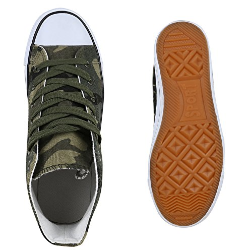 Damen Schuhe Sneaker Turnschuh High Top Camouflage