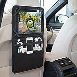 Ebuygb 13011supporto auto sedile posteriore organizzatore porta tablet iPad Galaxy Storage poggiatesta da viaggio, nero, 28cm x 22cm x 3cm