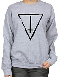 Inverted Cross Counterculture Gothic Art Symbol Womens Sweatshirt