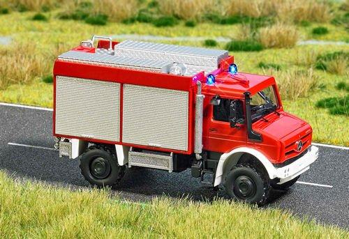 Busch 5599 Mercedes Unimog Feuerwehr beleuchtet