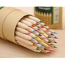BrillantFarben Wachsmalstifte Buntstifte 48 Premium Pre Sharpened  Farbbleistift Set Zum Zeichnen Von Malvorlagen Deal Für