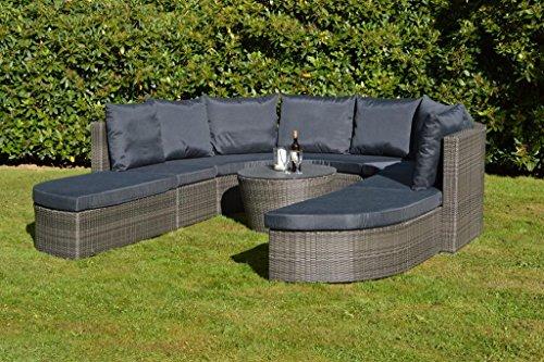 Loungeset Loungegruppe Loungeinsel Gartenmöbel Gartengruppe Garnitur Polyrattan