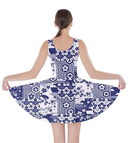 CowCow - Robe - Femme Maroon Black - Blue & White