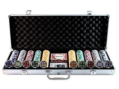 Huangguan MH161143 - Professionelles Poker-Set, schwarz