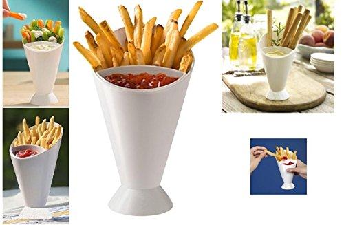2Tasty Dipper Konus Pommes Frites Dip Fry Sauce Chutneys Chip Dish Ketchup Snack Halter Kunststoff Finger Food Party Outdoor Garten Gemüse Schüssel Servieren Ständer