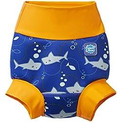 Splash About Couche de nage - Unisexe Bébés - Bleu ( Shark Orange ) - 6-12 mois