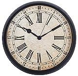 LENRUS 12 Zoll Römische Wanduhr, Vintage-Stil Runde Wanduhren, Wand-Dekor für Küche, Büro, Retro Timepiece Home Decor Zubehör