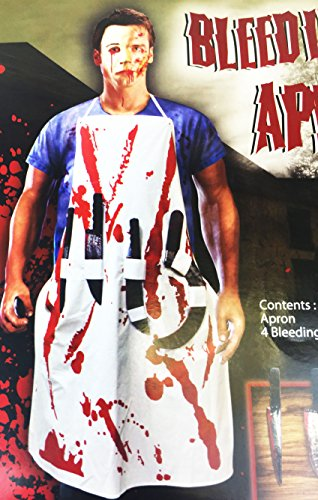 Costume da zombie killer sanguinosa grembiule chef chirurgo zombie puntelli costume di halloween
