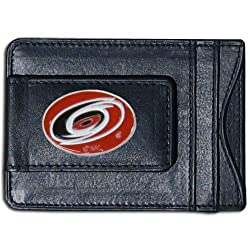NHL Carolina Hurricanes Genuine Leather Cash and Cardholder