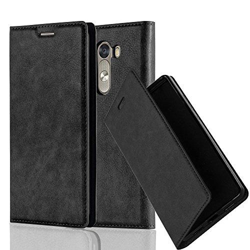 Cadorabo Hülle für LG G3 - Hülle in Nacht SCHWARZ – Handyhülle mit Magnetverschluss, Standfunktion und Kartenfach - Case Cover Schutzhülle Etui Tasche Book Klapp Style
