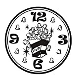 Kreative Cartoon Popcorn Wandaufkleber Nette Abnehmbare Küche Kühlschrank Aufkleber Küche Zimmer Clock Kreis Vinyl Wandtattoo44 cm X 44 cm