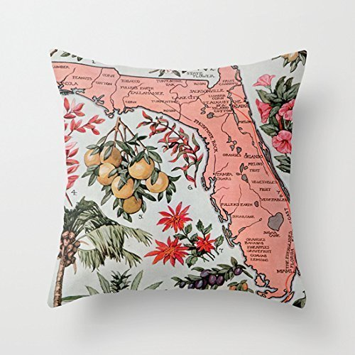 p of Florida Decorative Throw Pillow Case Cushion Cover ()