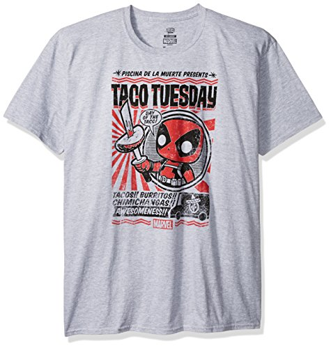 Funko Marvel Comics Pop! Tees T-Shirt Deadpool Taco Tuesday Size XL