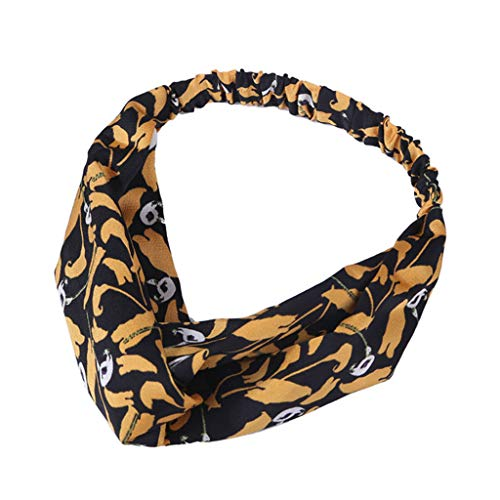 Younthone❤❤Kopfband Haarspange,Damen-Weinlese-Blume druckte elastische Kopf-Verpackungs-verdrehte nette Haar-Zusätze speciales neues Design für Damen (Maker Kit Stirnband)