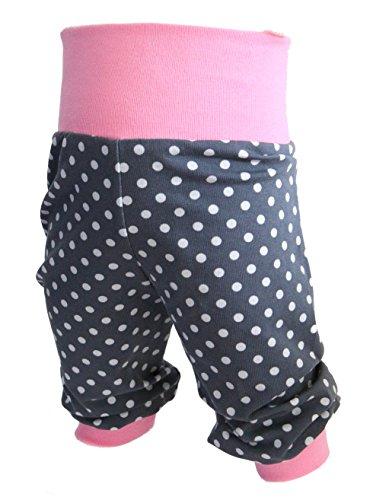 Babyhose-Pumphose-Pnktchen-Mdchen-Kinderhose-Jerseyhose-rosa-mit-Punkten-von-Tom-Lottchen