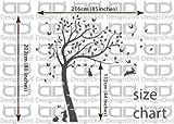 Full Size Customisible Beautiful Bunny Rabbits Tree Nursery Room Wall Decal Sticker DD007