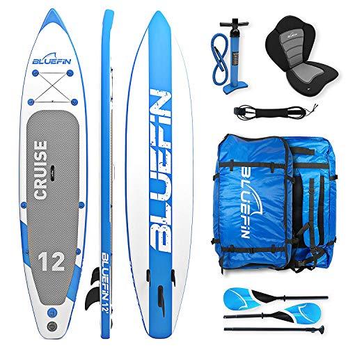 da5f535c52 Bluefin SUP Cruise, Tavola da Surf con Kit di trasformazione in Kayak  Rigido Monoposto (