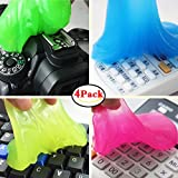 family-baby 4PCS Magic Keyboard Cleaner Gel Sticky Jelly Destop Laptop Computer Dust Remover
