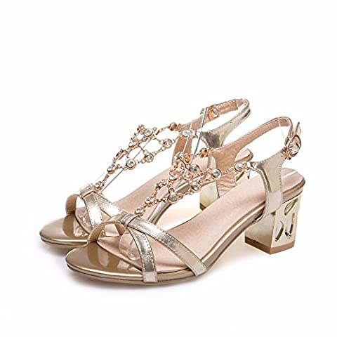 Summer women's diamond sandals with sandals, mesh type and big