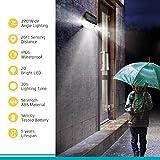Mpow Lampada Solare, 20 LED Super Luminosa Luce Solare, Aggiornato 120 ° Grandangolare Testa del Sensore, Impermeabile, per il Giardino, Garage, Vialetto, Via, Patio e Balcone【4 Pezzi】