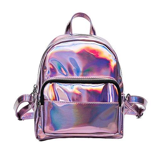 Vovotrade® Sac à dos en Cuir Femme Sac à Bandoulière Travel Shoulder Bag (Rose)