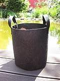 12 Liter - ø25 x 25cm Pflanzsack mit Henkeln Pflanztasche Töpfe Grow Bag Plant Pot Hochbeet