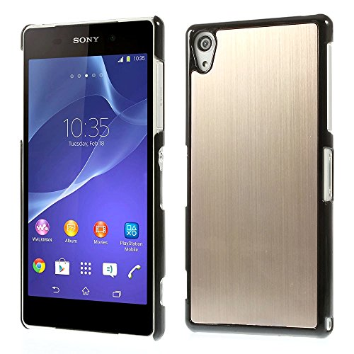 sony-xperia-z2-phone-gold-aluminum-metal-back-case-hard-cover-with-black-frame-2-screen-protectors