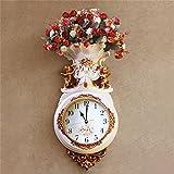 CZM ZHB wanduhr Kreative Kunst Wanduhr europäischen Stil Retro Wohnzimmer Wand Floral Uhr