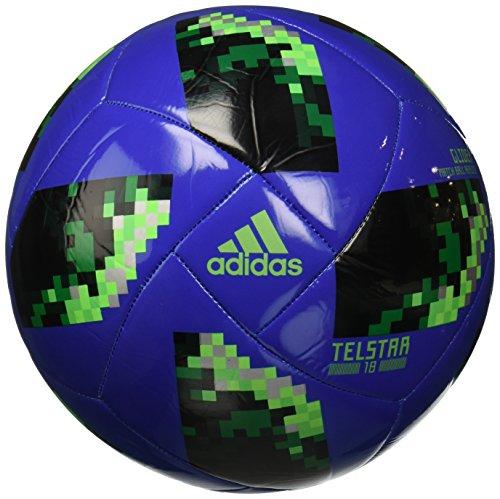 adidas World Cup Glider Trainingsball hi-Res Blue s18/Solar Green/Silver met. 5