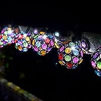 Cadena de luces solar con 10 bolas