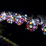 Smart Solar String Lights 10 Multi Glow Gems White LED