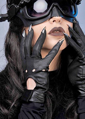 (Catwoman-Style schwarz Handschuhe mit Krallen)