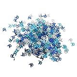 Sharplace Hochzeit Konfetti Tischdeko Streudeko - Blau+Silber 70
