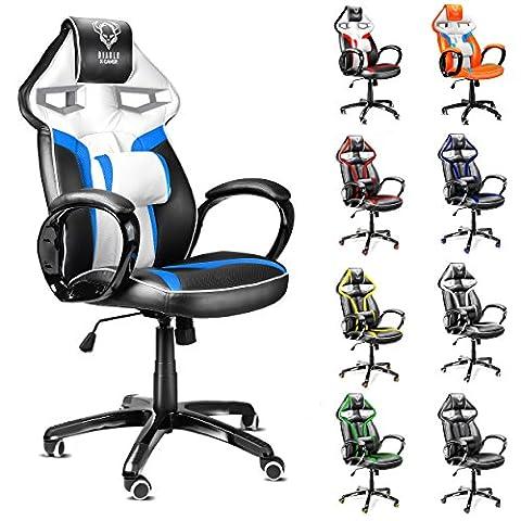 Diablo X-Gamer Gaming Stuhl, Bürostuhl, Racing Sportsitz, Sportsessel, Racer Drehstuhl,